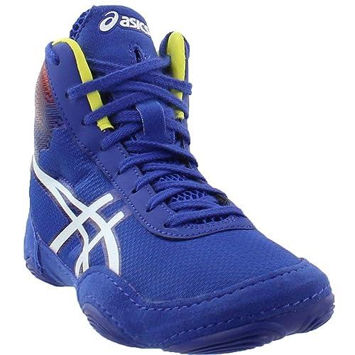 100e6a51e8d7a1 ASICS JB Elite V2.0 Flame Mens Wrestling Shoe 11 True Blue-White ...
