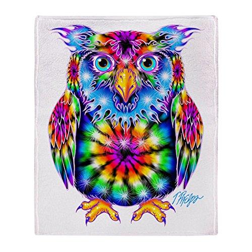 """CafePress Tie Dye Owl Soft Fleece Throw Blanket, 50""""x60"""" Sta"""