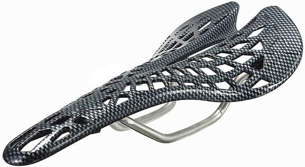 CXJUN Diseño de telaraña ultraligera a prueba de golpes Cómodo Peso ligero Bicicleta de montaña Bicicleta de carretera Ahueca hacia fuera el cojín del asiento de la silla de araña