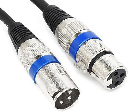 AudioQuest C/âble audio XLR XLR 3 broches Noir 1 m