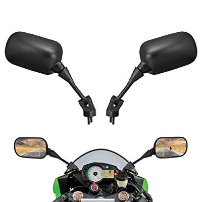 Motorcycle Rear View Mirrors Compatible with Kawasaki Ninja ZX6R ZX10R Ninja 636 Ninja 650 ZX6R 2005-2008 ZX-10R 2004-2010 Ninja 650 2009-2020: Automotive