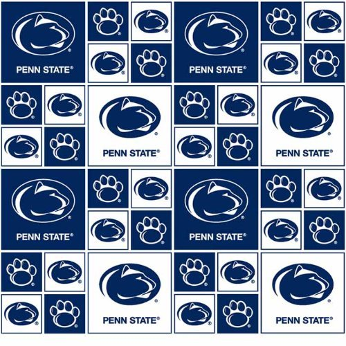 Cotton Penn State University Nittany Lions College Team Fabric Print - sps020s
