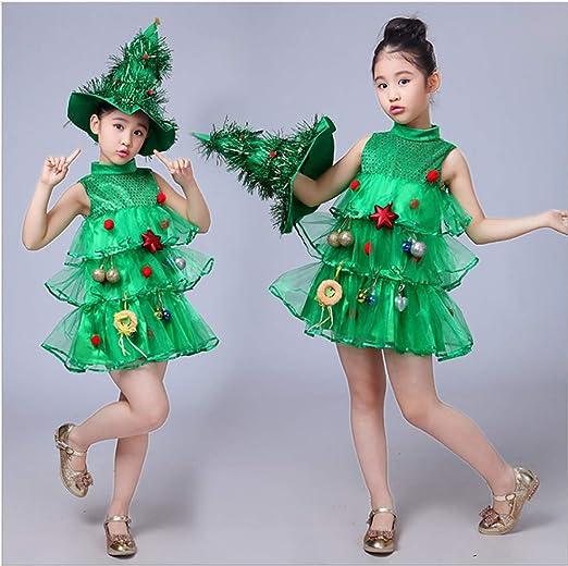 Uiophjkl - Cómodo Disfraz de árbol de Navidad para niños con ...