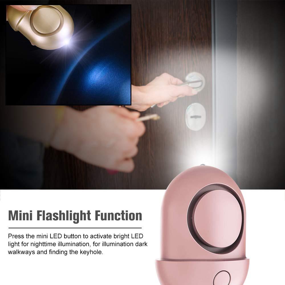 Negro Extaum Safe Sound Personal Alarm Alarma de Emergencia Autodefensa Alarma de Seguridad Llavero LED Linterna 125-130dB para Mujeres Ni/ñas Ni/ños Ancianos Explorer 1 Paquete