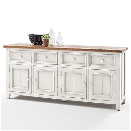Sideboard weiß Holz Landhaus Byron XL: Amazon.de: Küche ...