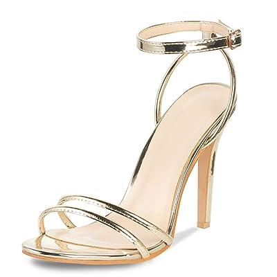 AIIT Women's Fashion Stiletto High Heel Sandal Pump Shoe: Clothing