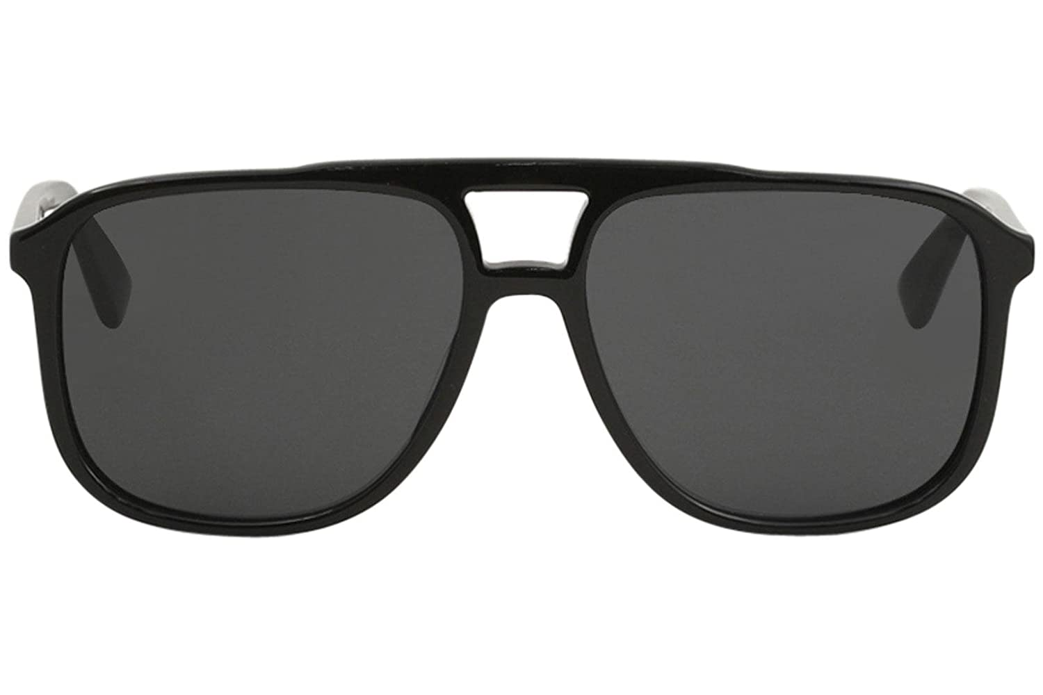0e17885f1f Amazon.com  Gucci GG0262S 001 Black Plastic Aviator Sunglasses Grey Lens   Clothing