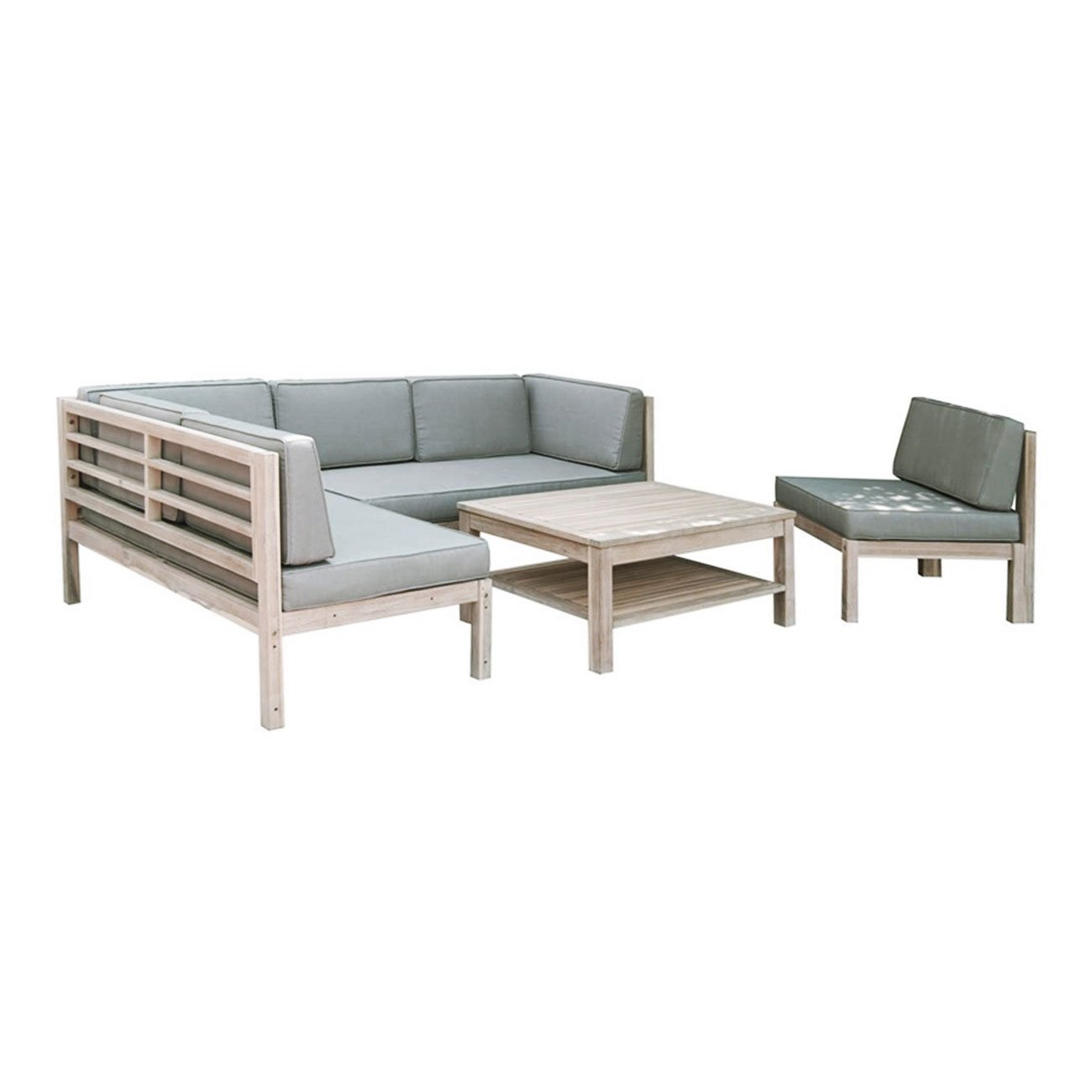 Loungemöbel Holz Outdoor : loungem bel holz outliv skagen loungegruppe design gartenm bel wei taupe 4tlg loungeset ~ Watch28wear.com Haus und Dekorationen