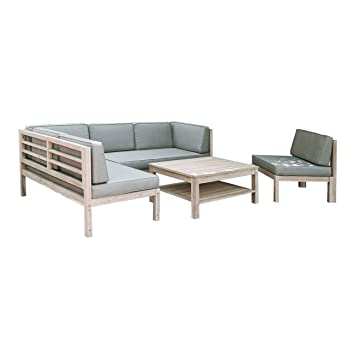 Amazon.de: OUTLIV. Loungemöbel Holz Skagen Loungegruppe Design ...