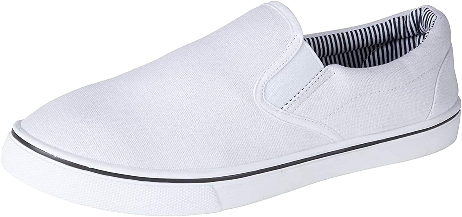 Mens Slip on Canvas Summer Shoes