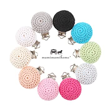 Mamimami Home 10pc Clips de chupete Biter Clip Eco amigable BPA juguetes sensoriales de color sólido Accesorios para bebés