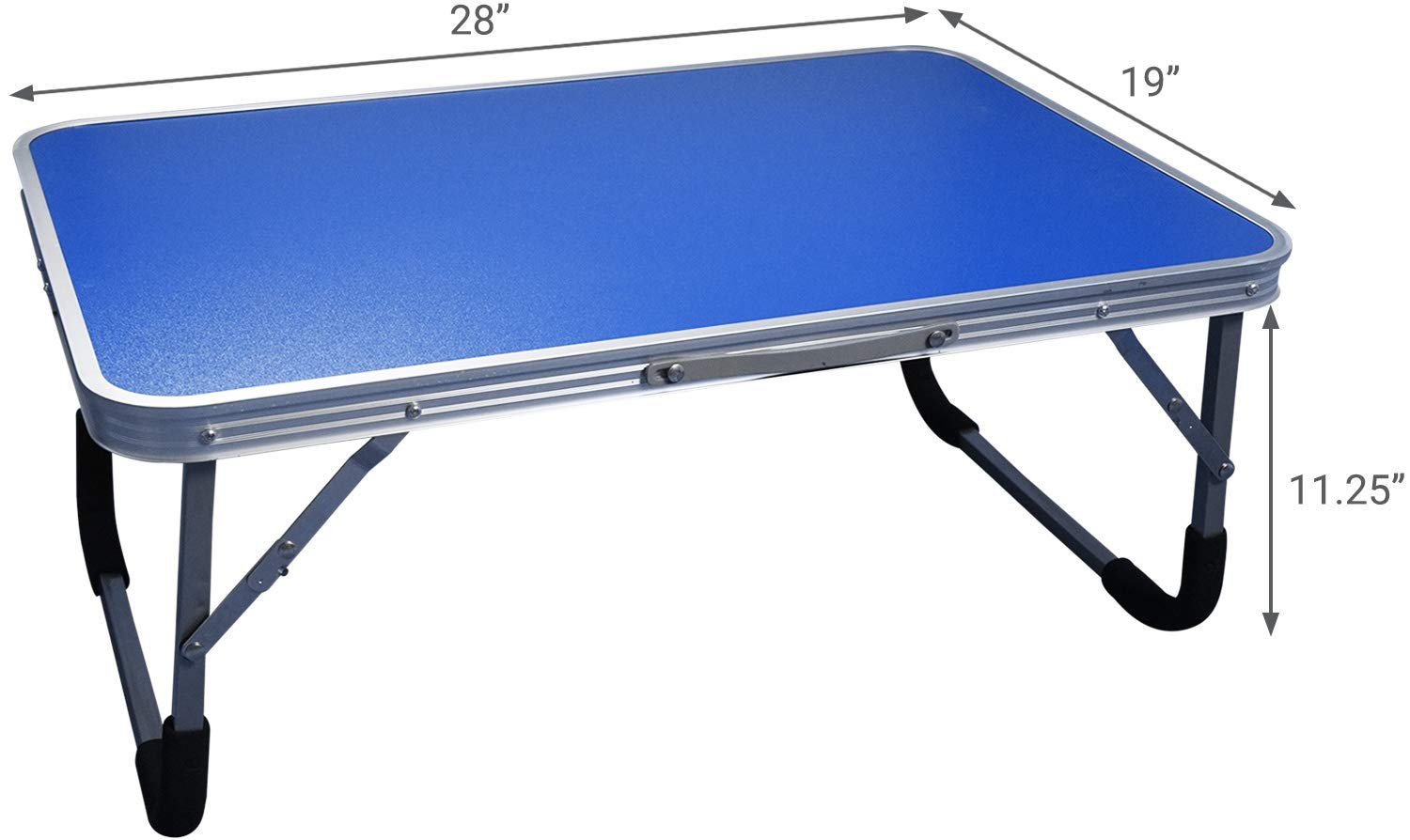 Extra Large Folding Desk Tray - Featuring Locking Foldable Leg Design and Carry Handle - for use in Bed, Computer, Picnic, or Kids Playtime by BrightCare (Image #5)