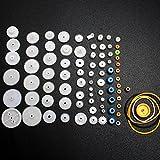 DIKAVS Motor Gears Plastic Gear Shaft Rack Reduction Worm Gear Sets for Toy Diy Robot(80pcs)