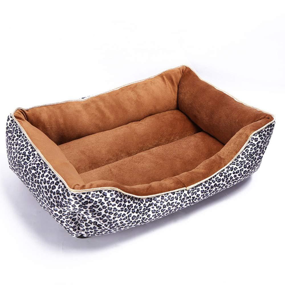 49x41x15cm WALSITK Fashion snow leopard pet nest thick warm pet cat dog mat waterproof dog bed kennel 49x41x15cm