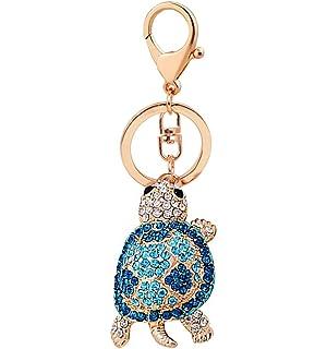 Amazon.com: vidrio de diamante llavero Cute Chick llavero ...