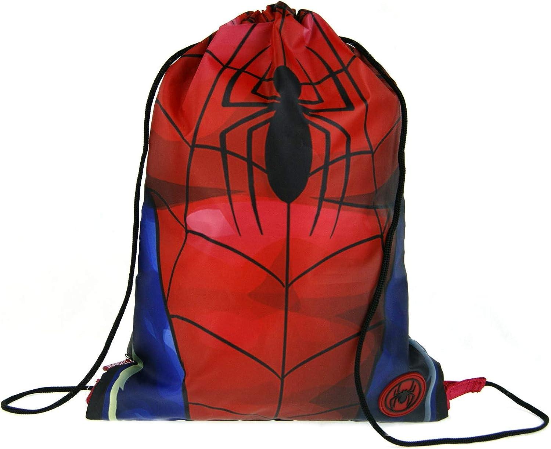 Marvel Spiderman Boys Drawstring Gym Bag Torso