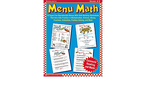 Amazon.com: Menu Math (Grades 4-5): 15 Super-Fun Reproducible ...