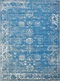 Unique Loom Sofia Collection Blue 9 x 12 Area Rug (9' x 12')