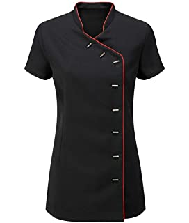 MA ONLINE Women Mandarin Collar Neck Salon Top Fancy Beauty Tunic Top