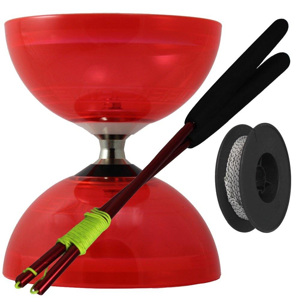 Juggle Dream - Diábolo Hurricane, palos de control en aluminio y cuerda profesional de 10 m, color oro (PAC-010/ORA): Amazon.es: Juguetes y juegos