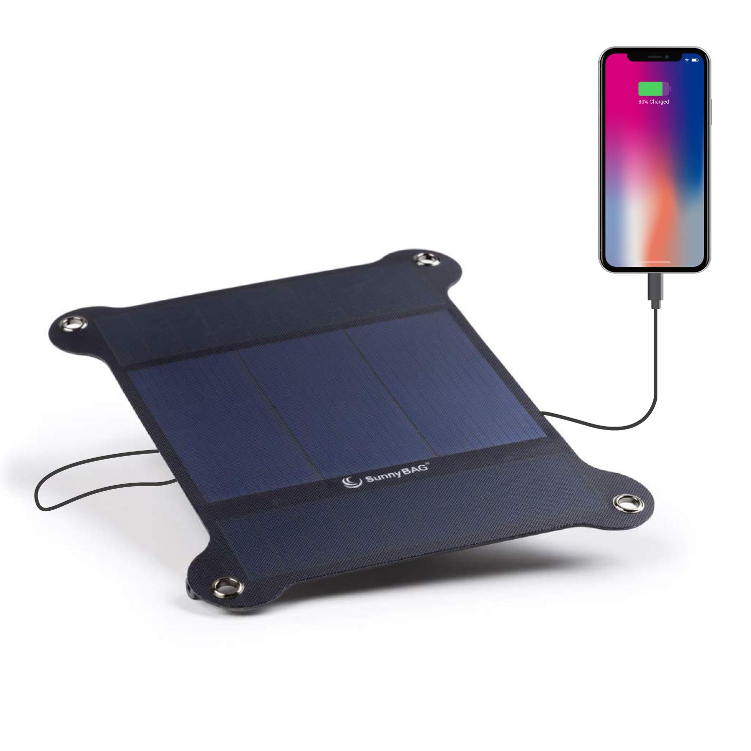 Sunnybag Leaf+ | Premium Outdoor Solar Charger for All Smartphones, Tablets and More Incl. 10.000 mAh Power Bank | The World's Lightest and Strongest Flexible Solar Panel by SUNNYBAG