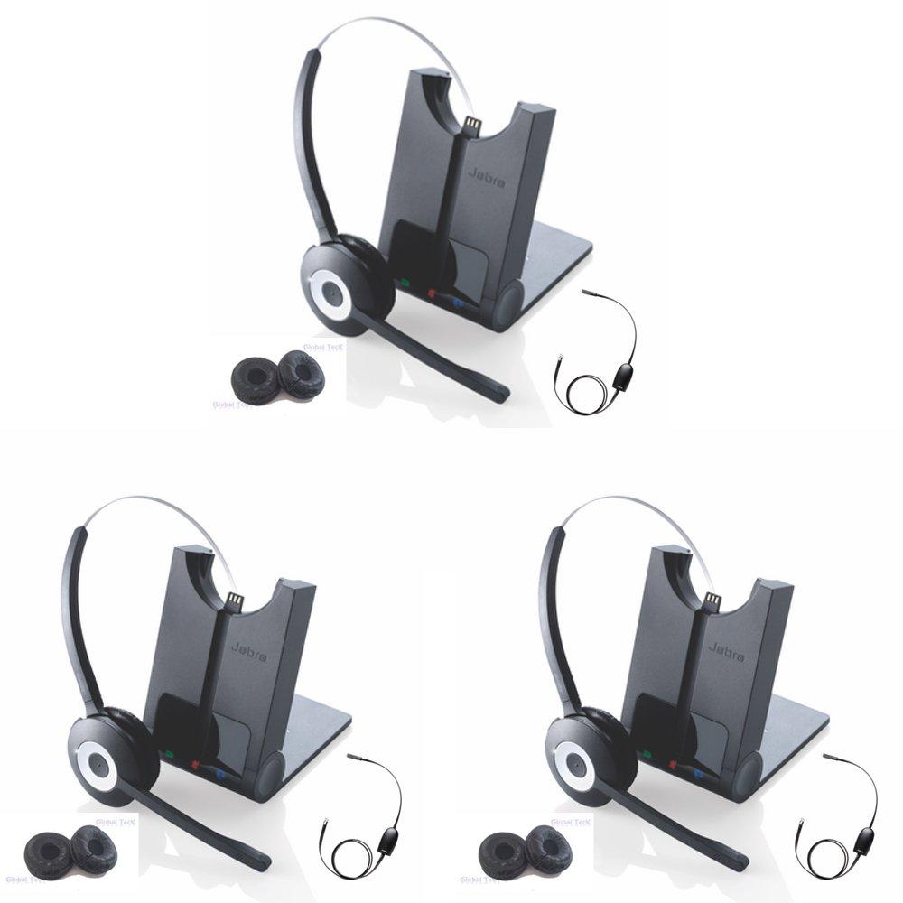 Jabra 920 Wireless Headset with Polycom EHS Remote Answerer for Select Polycom Phones | 3pk Bundle Special |
