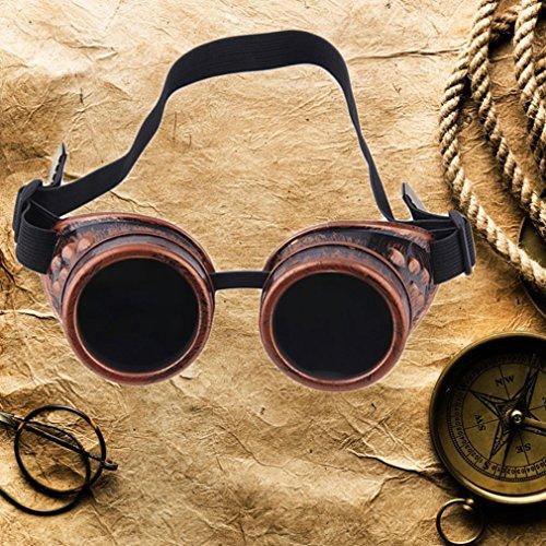 Gothic Goggles Glasses Punk Vintage Moda Welding Cyber Steampunk FairytaleMM Victorian xPqnwp68EW