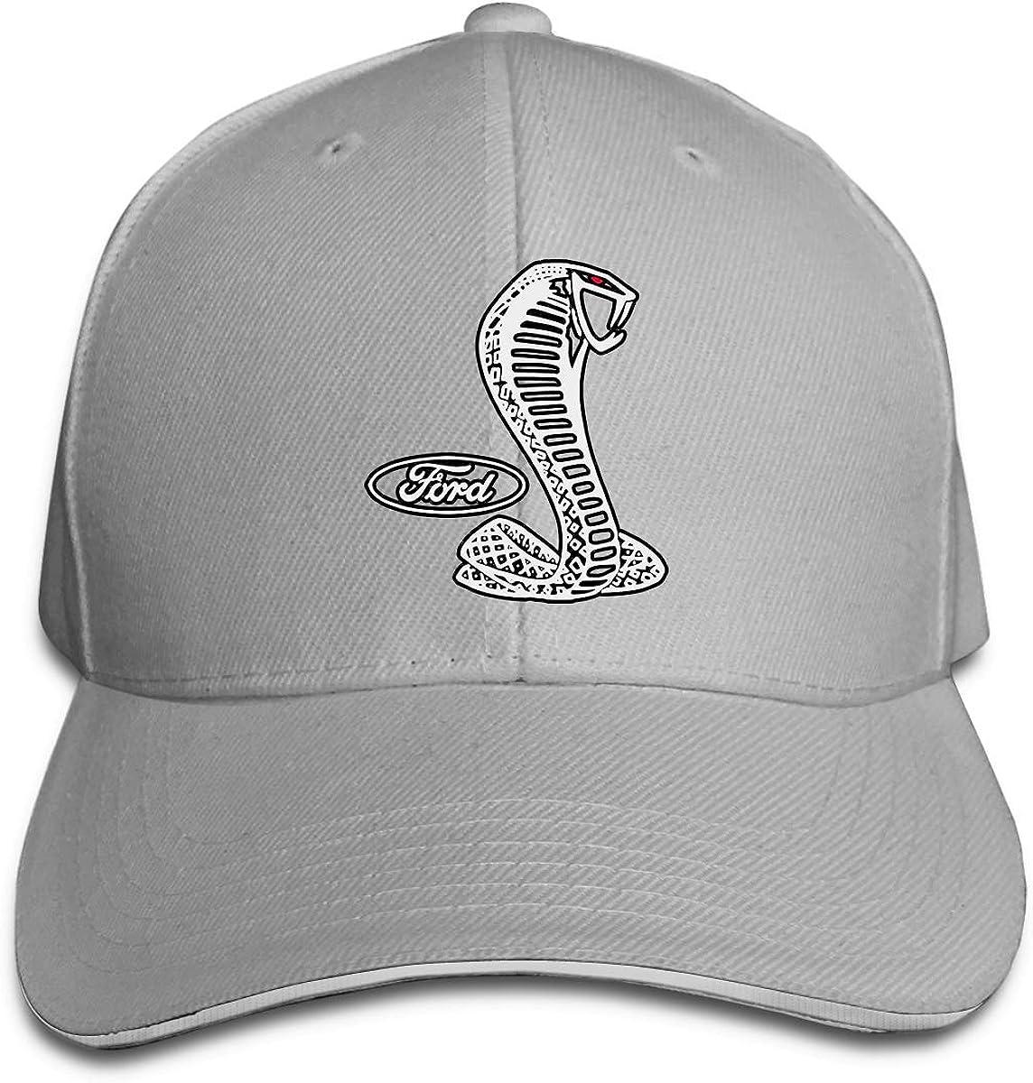 Gorra de béisbol sándwich Ajustable Unisex Ford Mustang Cobra Logo ...