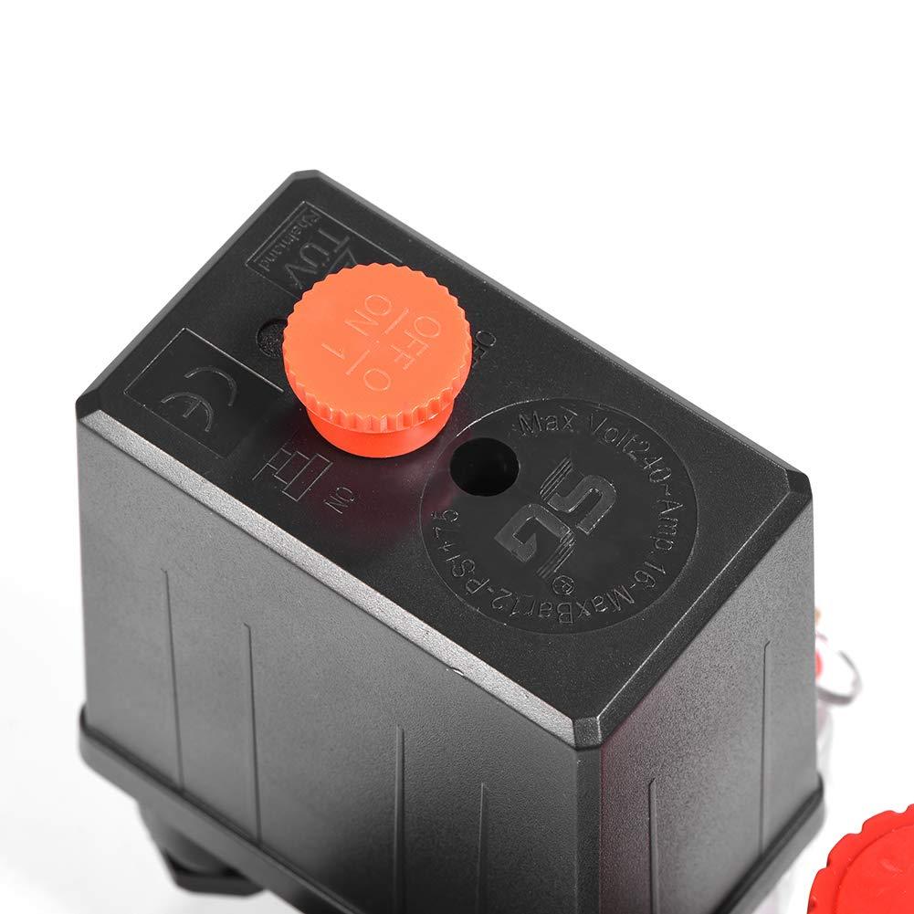 Regulador de Control Del Interruptor de La V/áLvula de Presi/óN Del Compresor de Aire Con Man/óMetros Para Una R/áPida Reducci/óN de La Presi/óN