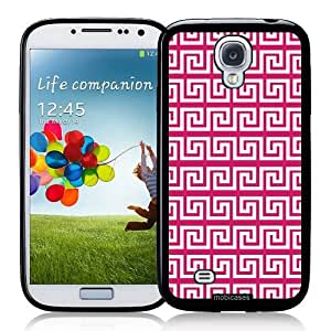 Greek Pattern - Fushcia - Protective Designer WHITE Case - Fits Apple iPhone 5 / 5S