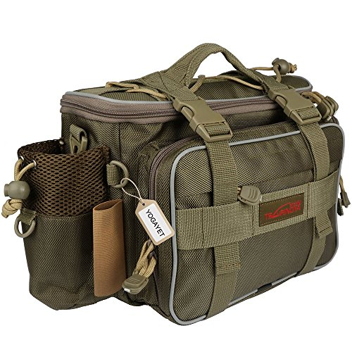 Tackle Pack - YOGAYET Portable Outdoor Fishing Tackle Bag Multifunctional Lure Waist Fanny Pack Water-Resistant Soft Sided Shoulder Carry Strap Storage Green