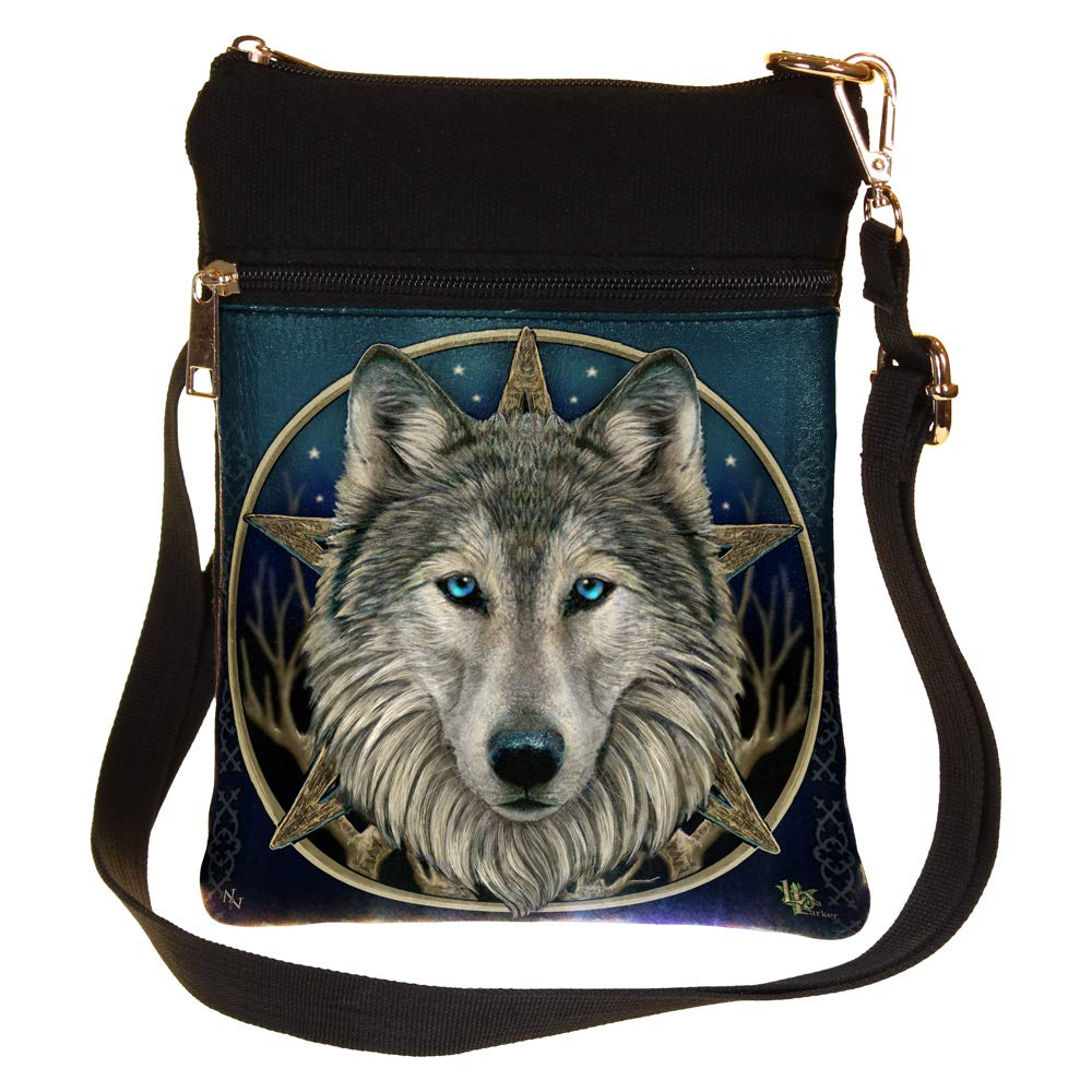 The Wild One Fantasy Wolf Shoulder Bag by Lisa Parker Nemesis Now