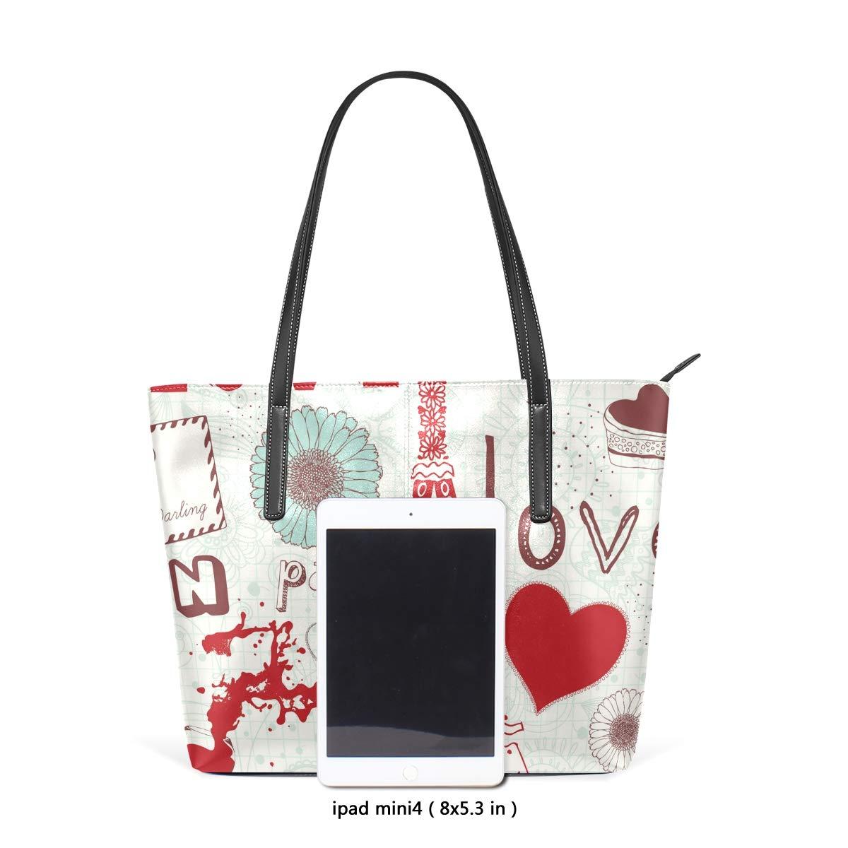 Beautiful Japanese Mount Fuji Landscape Illustration Womens PU Leather Tote Shoulder Bags Handbags Casual Bag