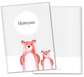 personalisierbar mit Namen Mutterpasshülle 3-teili,süsses Fuchsmotiv