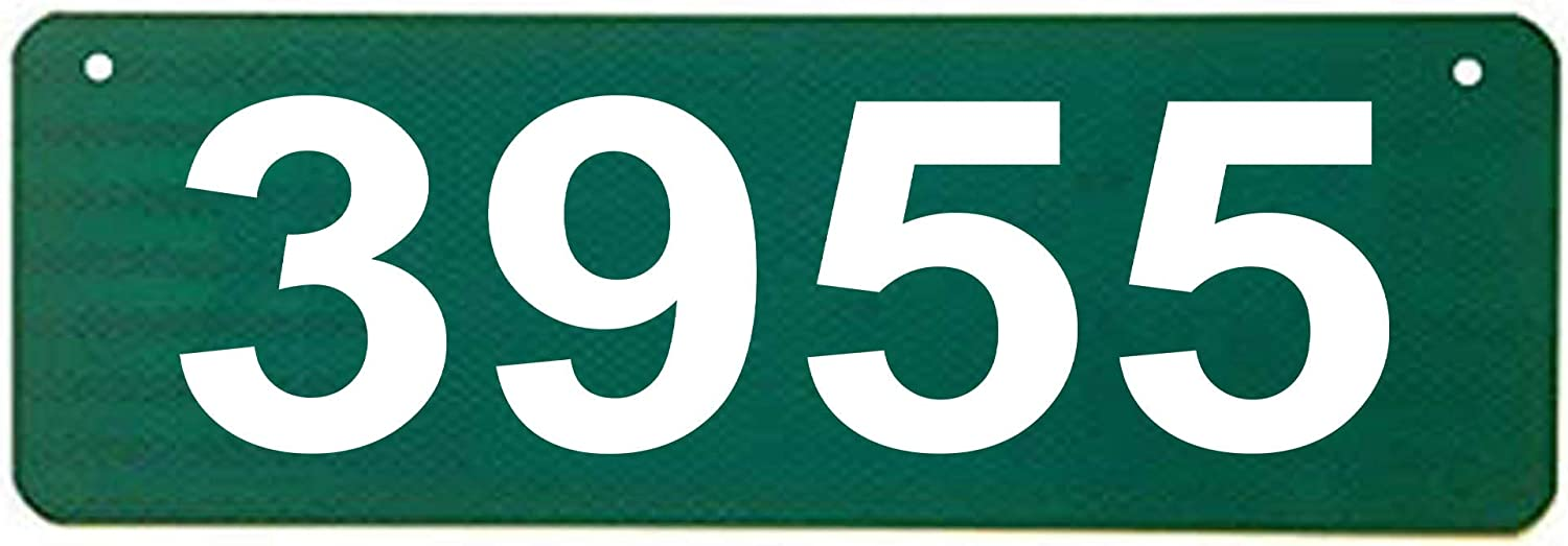 """Horizontal Green 911 Sign with 4"""" Tall Numbers"""