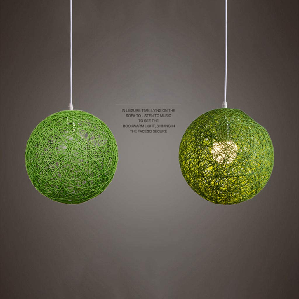 Rattan Und Hanfkugel Leuchter Einzelner Kreativitaet Kugelf?rmiger Rattan Nest Lampenschirm SODIAL Rot Bambus-