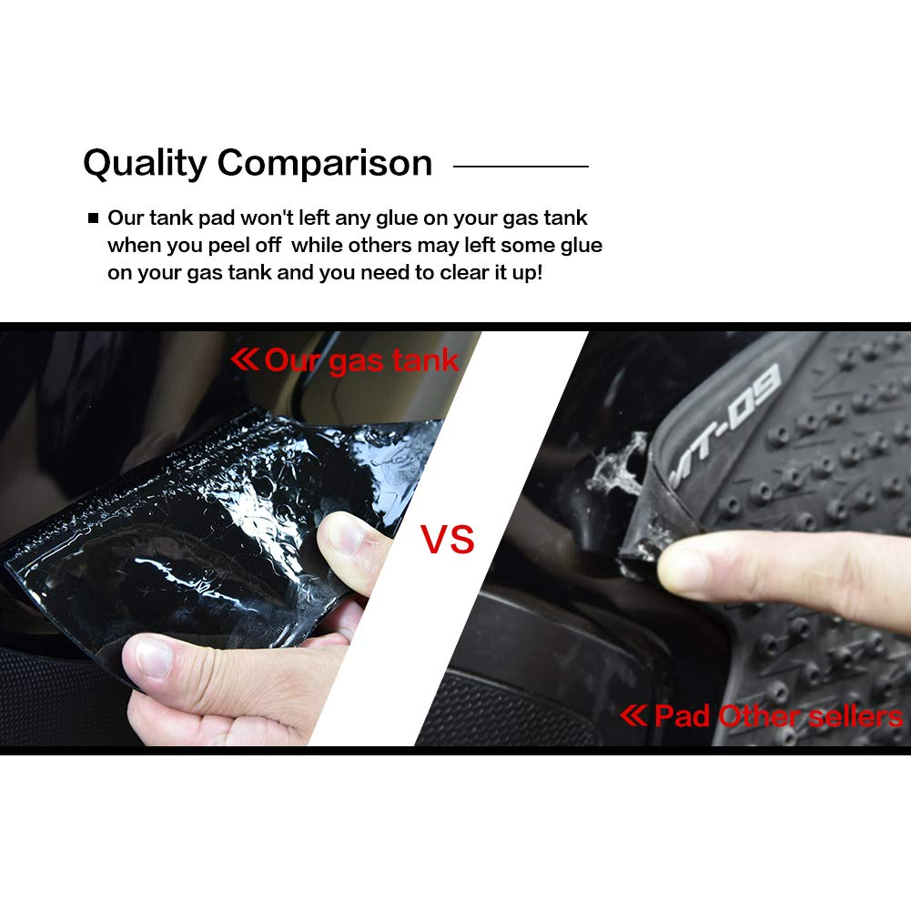 FATExpress Motorcycle Rubber Traction Pad Side Fuel Gas Tank Grip Decal Protector for 2007-2008 Yamaha YZF R1 1000 YZF-1000 07 08 07-08