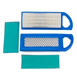 HEYZLASS 2Pack 698083 697153 Air & Foam Pre Filter Cartridge, for Briggs & Stratton Engine Lawn Mower, for John Deere GY20573 Craftsman Air Cleaner and More
