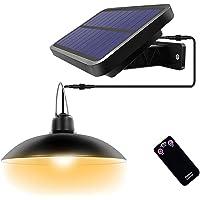 ENCOFT 16 LED Luz Colgante Solar Exterior con Control Remoto, Lámpara Iluminación Colgante Solar Impermeable IP65 Retro…