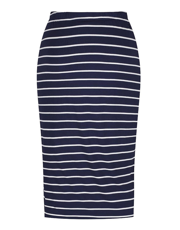 Joules Women's Medina Jersey Tube Skirt - French Navy Stripe V_MEDINA