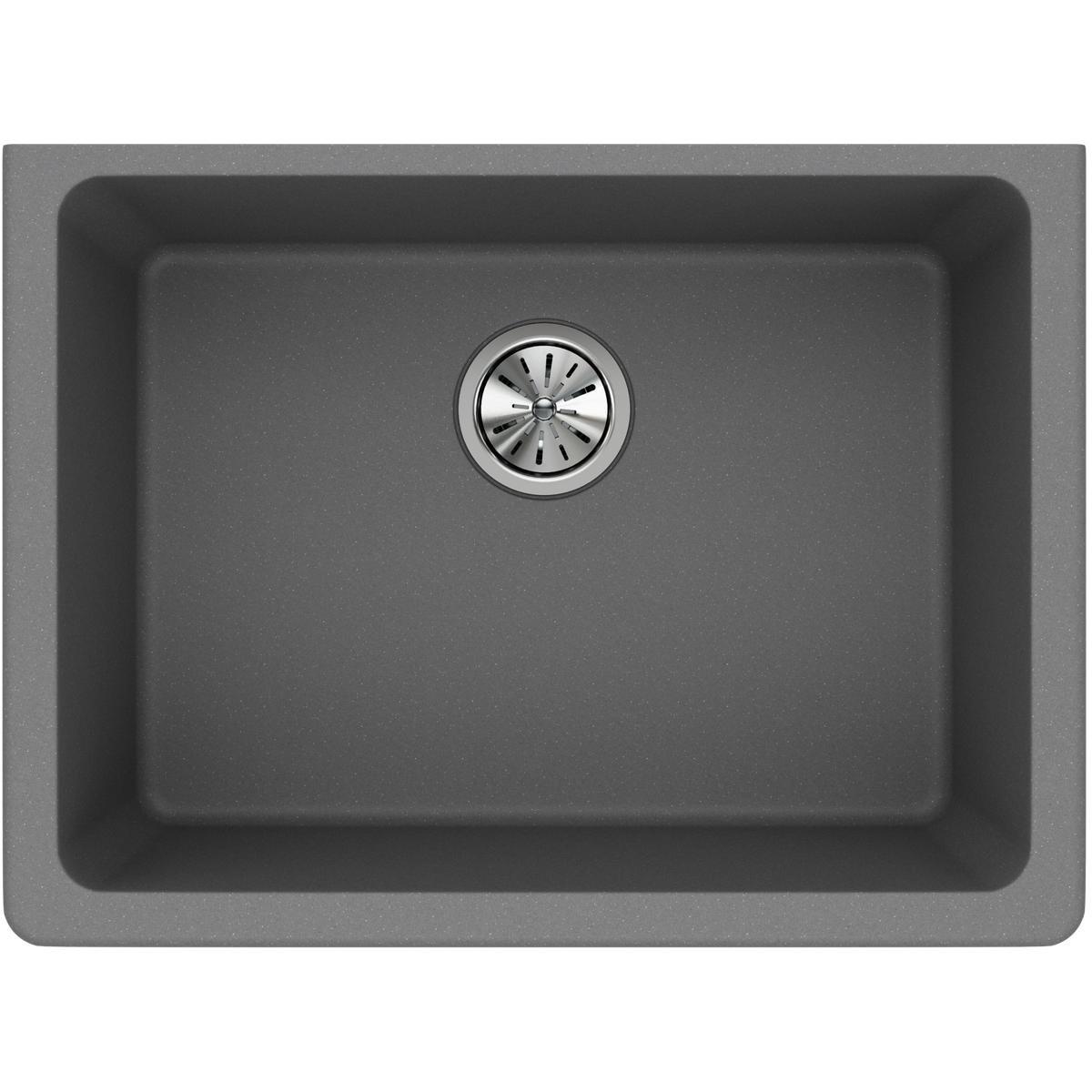 Elkay Quartz Classic ELGU2522GS0 Greystone Single Bowl Undermount Sink
