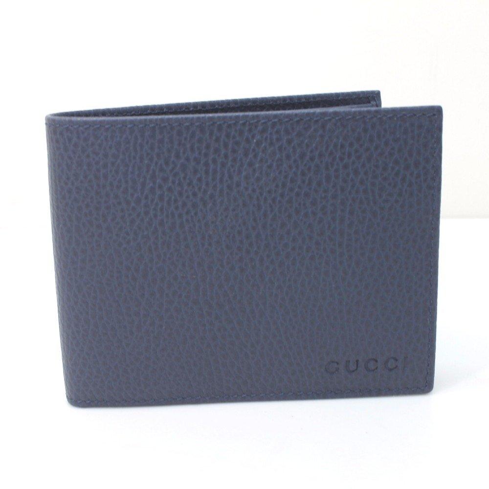 (グッチ) GUCCI 217041 パスケース付 二つ折り札入れ 二つ折り財布(小銭入れなし) カーフレザー/レディース 未使用 中古 B079NB5TB9