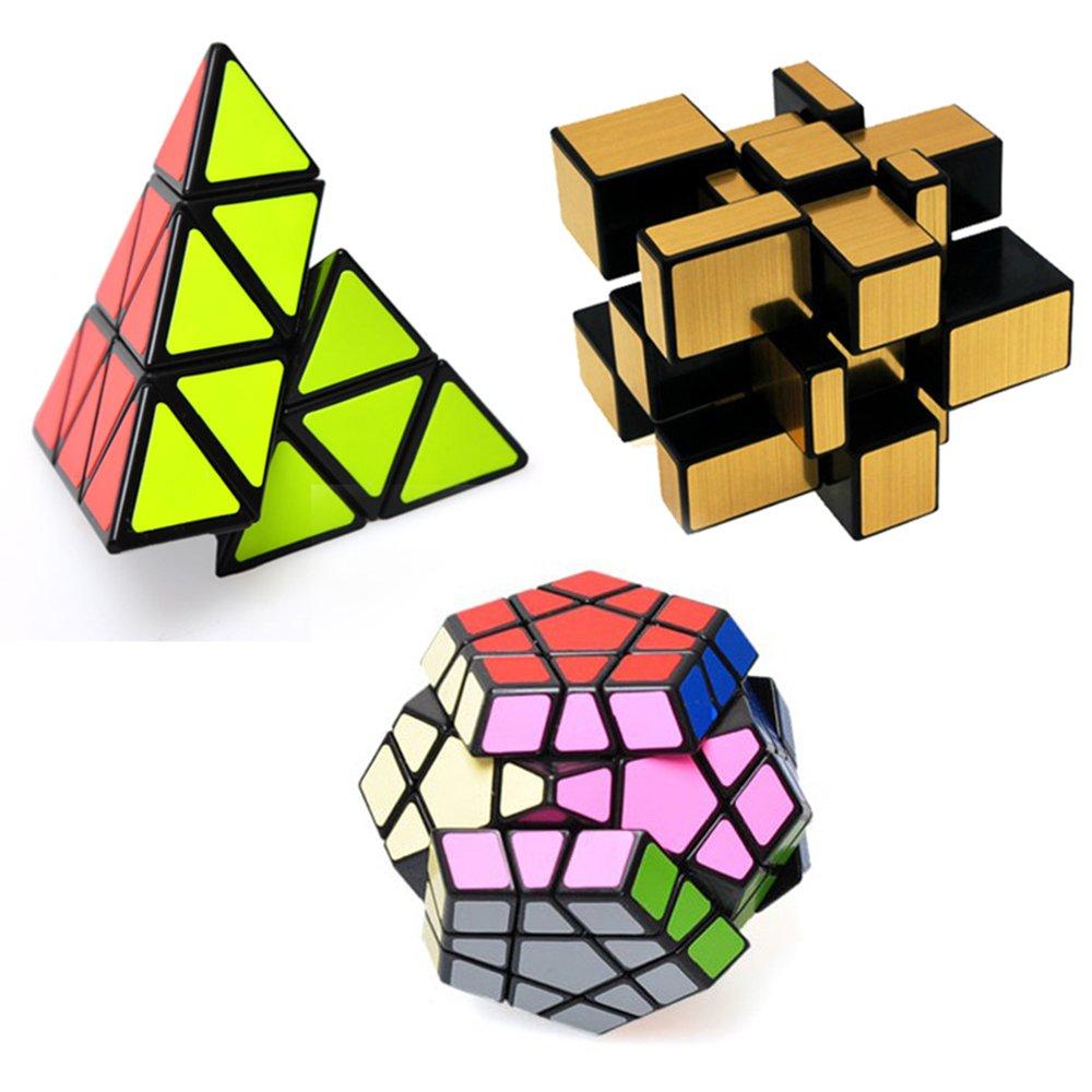 Megaminx Cube Pyraminx cube+Mirror Cube Ting-W Set of Shengshou Magic cube 3X3 Puzzle Speeding Twisty Solver education toys