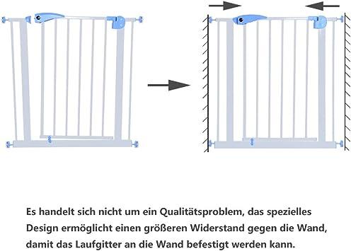 Yorbay T/ürschutzgitter Treppenschutzgitter 75cm-185cm Klemminstallation Ohne Bohren 15 Varianten w/ählbar