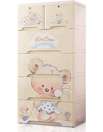 5e088c35f Nafenai 5 Drawer Large Size Storage Organizer Dresser,Baby Plastic Armoires  Closet Wardrobe for Bedroom