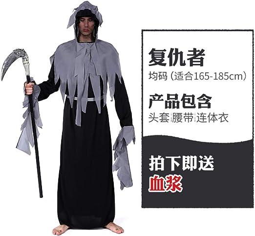MYing Disfraz de Halloween para Hombre Adulto Muerte Hoz Cosplay ...