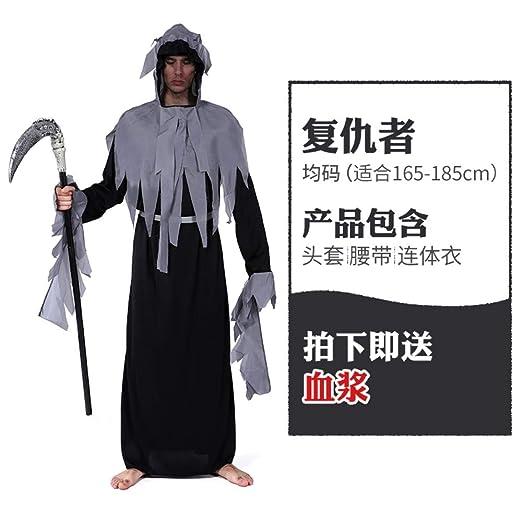 MYing Disfraz de Halloween para Hombre Adulto Muerte Hoz ...