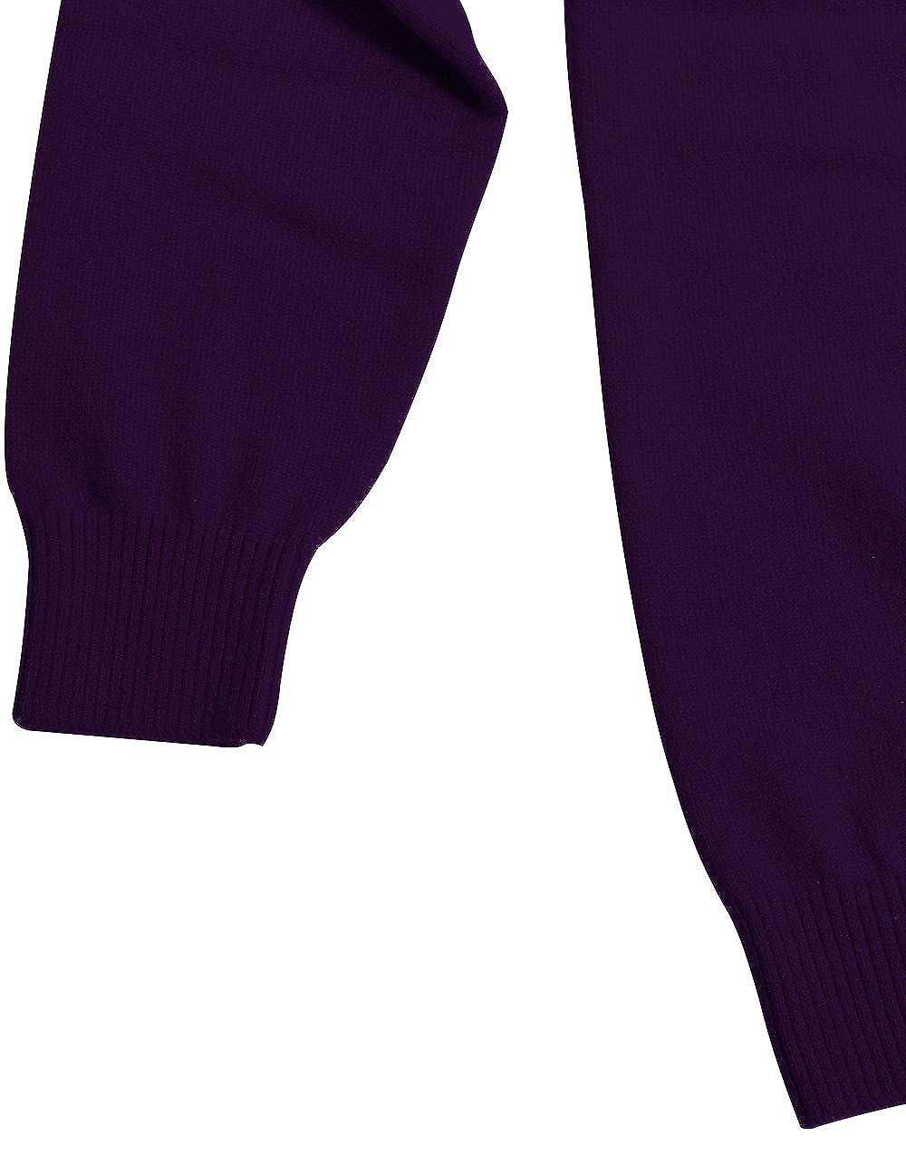 CHARXI Mens Double Pure Cashmere Crew Neck Cardigan Sweater Customizable