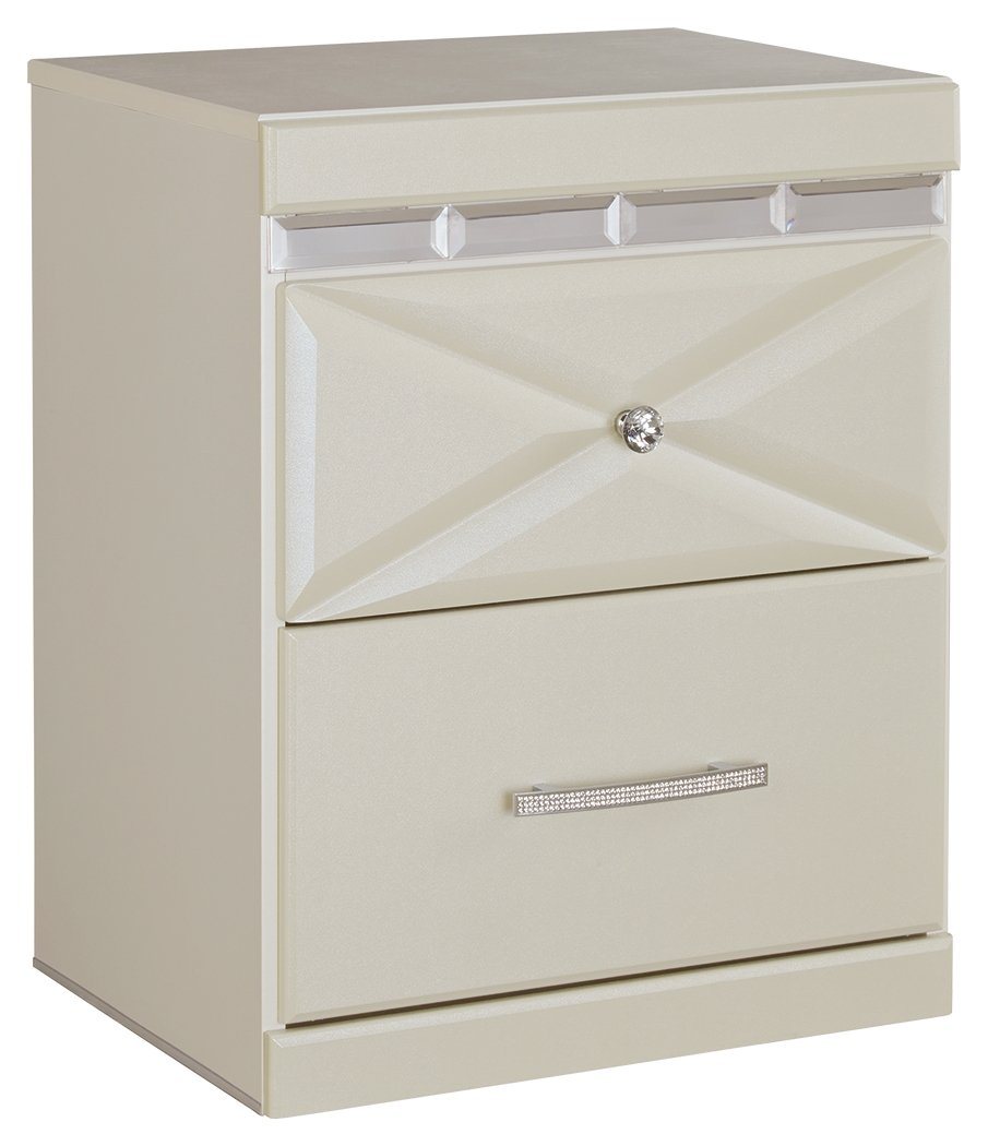 Signature Design by Ashley B351-92 Dreamur Nightstand, Champagne