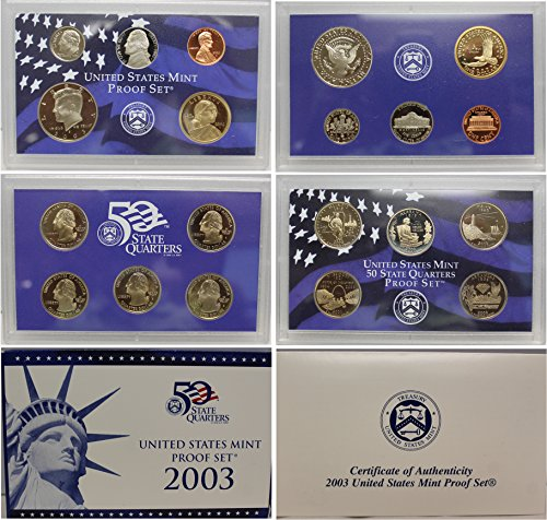 - 2003 S US Mint Proof Set OGP